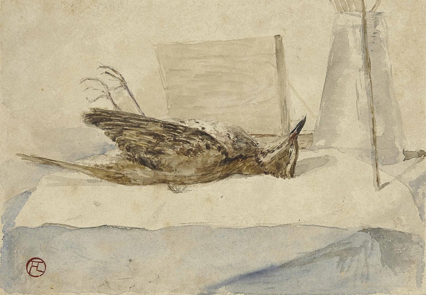 Henri de Toulouse-Lautrec-Oiseau mort-1879