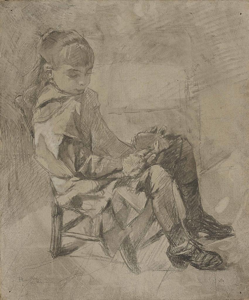 Henri de Toulouse-Lautrec-Mademoiselle Beatrix Tapie de Celeyran-1882