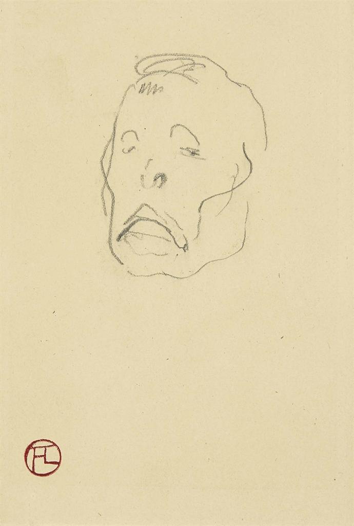Henri de Toulouse-Lautrec-Tete d'homme-1891
