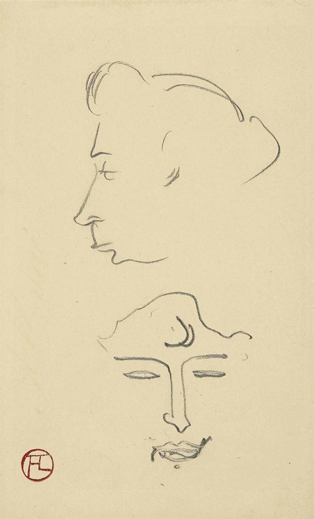 Henri de Toulouse-Lautrec-Tetes de femmes-1891