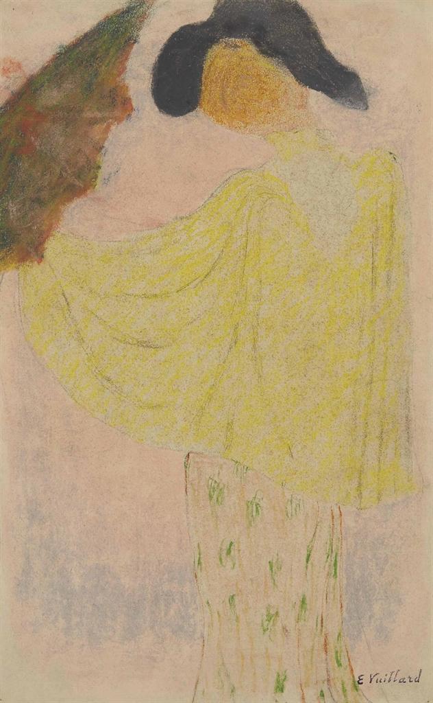 Edouard Vuillard-Femme a l'ombrelle-1890