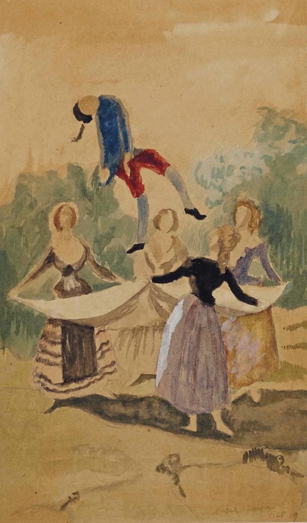 Roger de La Fresnaye-Le mannequin, d'apres Goya-1919