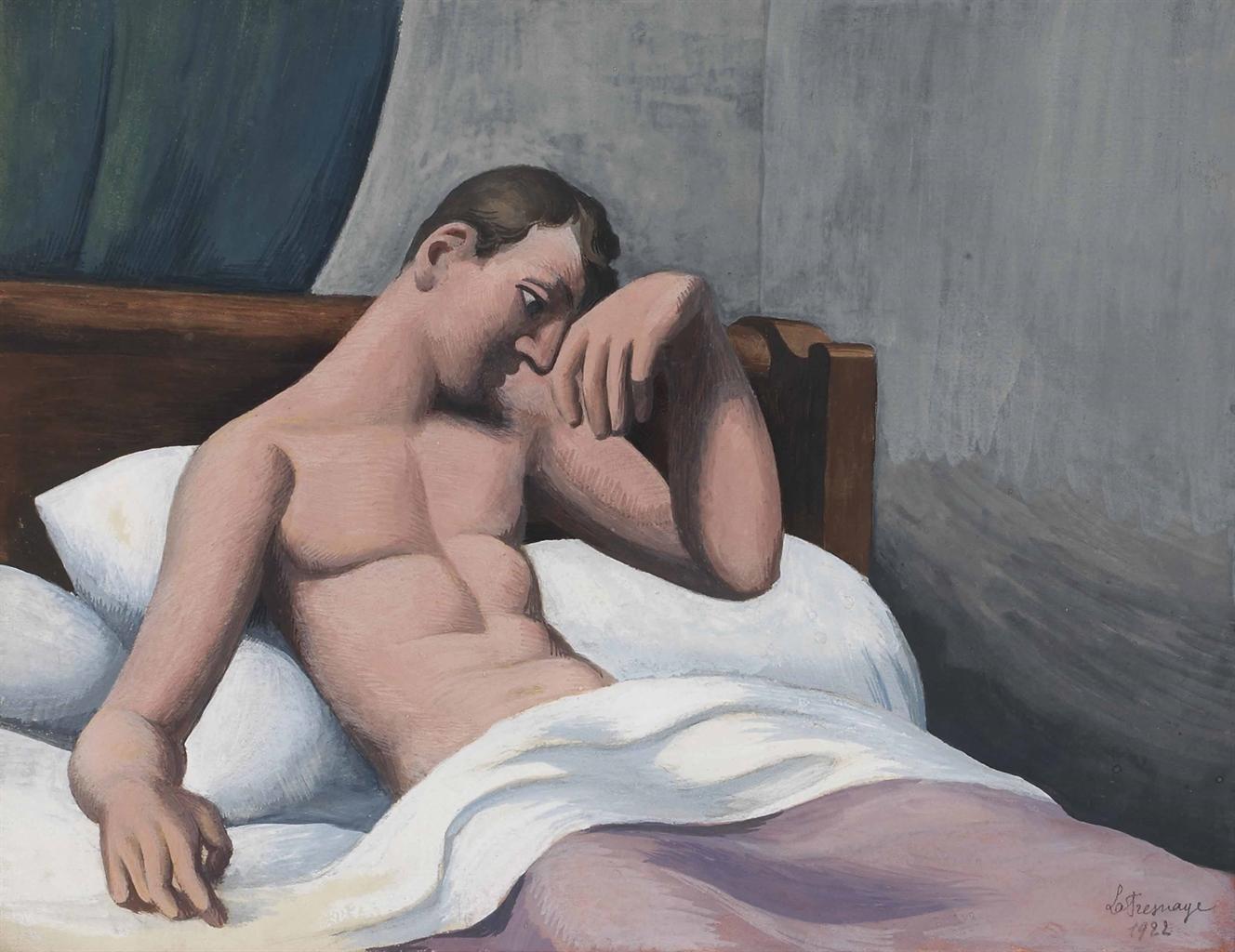 Roger de La Fresnaye-Le malade assis dans son lit-1922