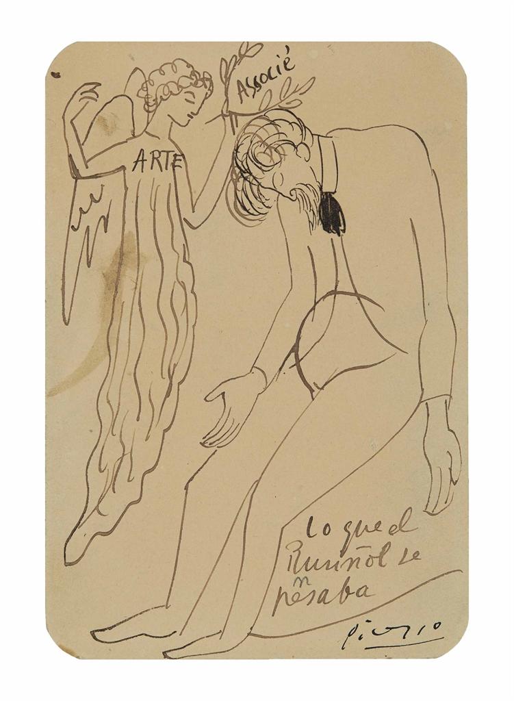 Pablo Picasso-Lo que el Rusinol le pensaba-1901