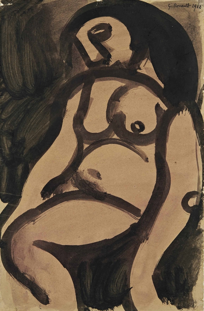 Georges Rouault-Nu assis-1918