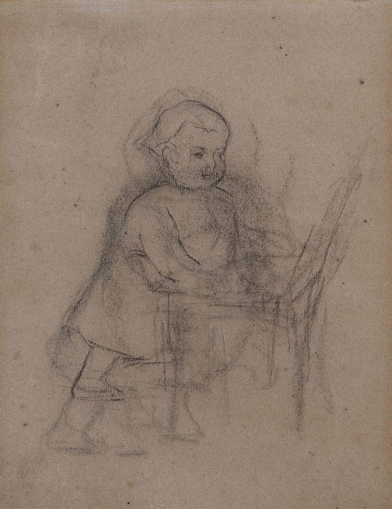 Paul Gauguin-Enfant s'appuyant sur une chaise-1870