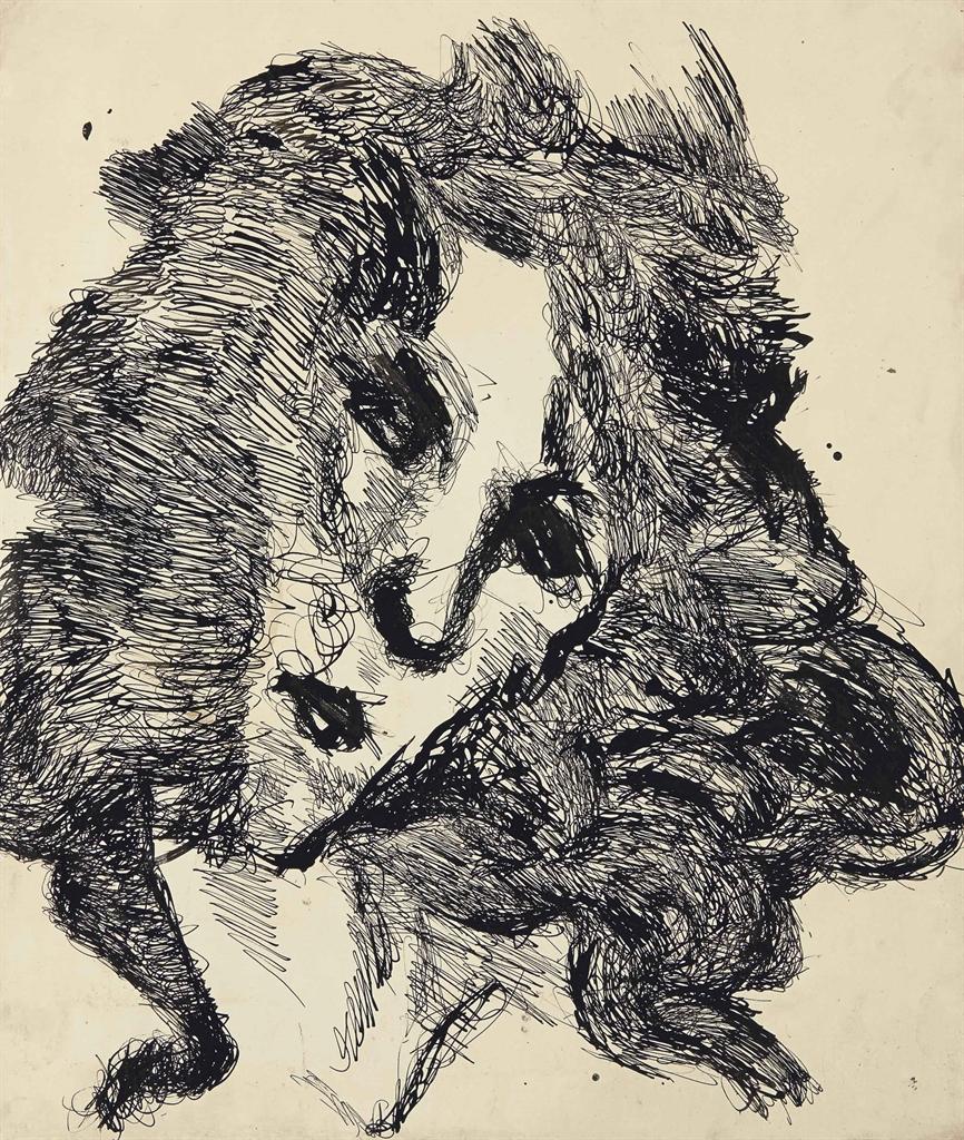 Louis Soutter-Tete de femme-1937