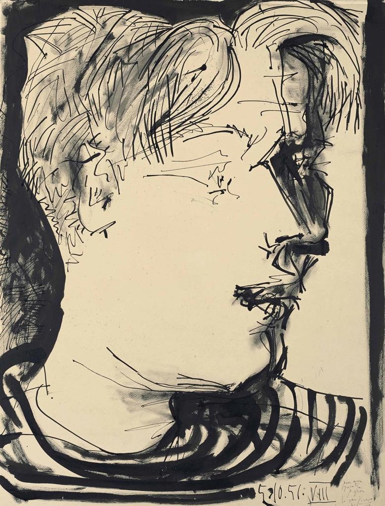Pablo Picasso-Portrait d'Edouard Pignon-1951