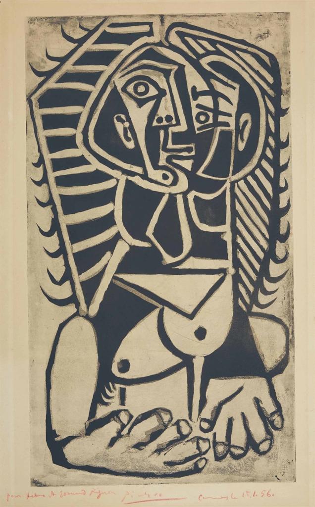 Pablo Picasso-Torse de Femme (L'Egyptienne)-1953