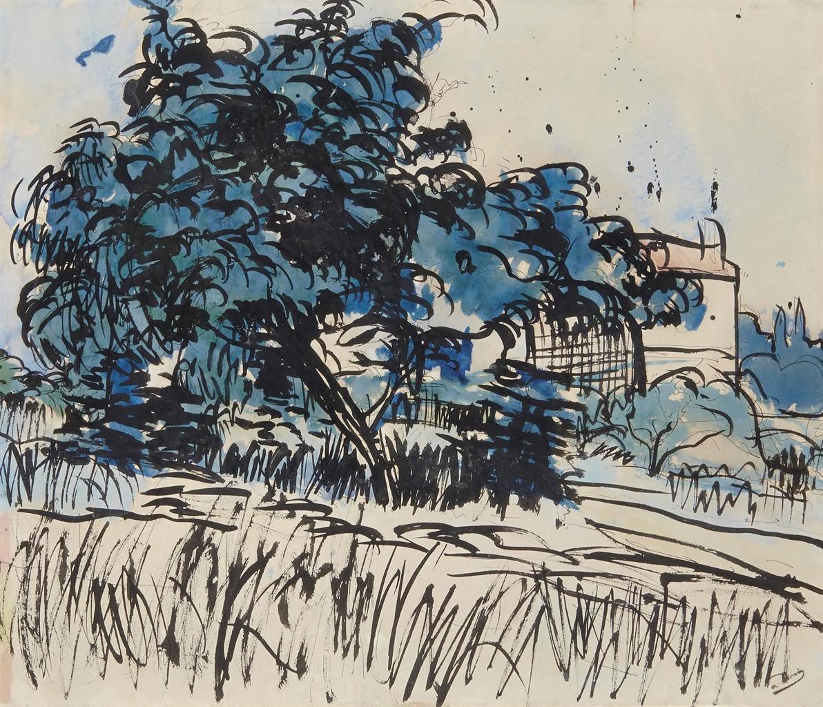 Andre Derain-Paysage aux environs de Paris-1901