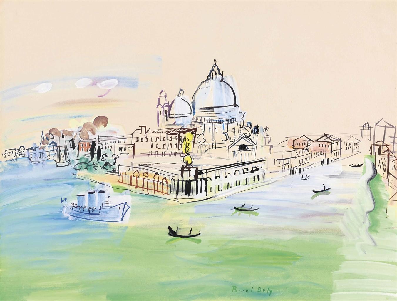 Raoul Dufy-La pointe de la douane, Venise-1938