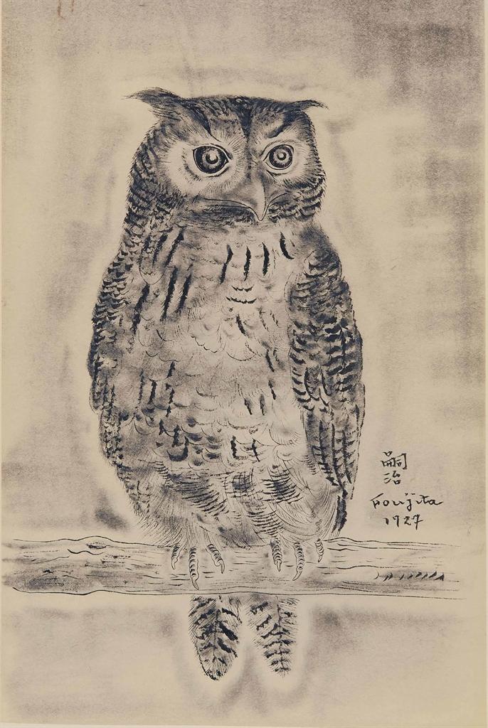 Tsuguharu Foujita-Hibou-1927