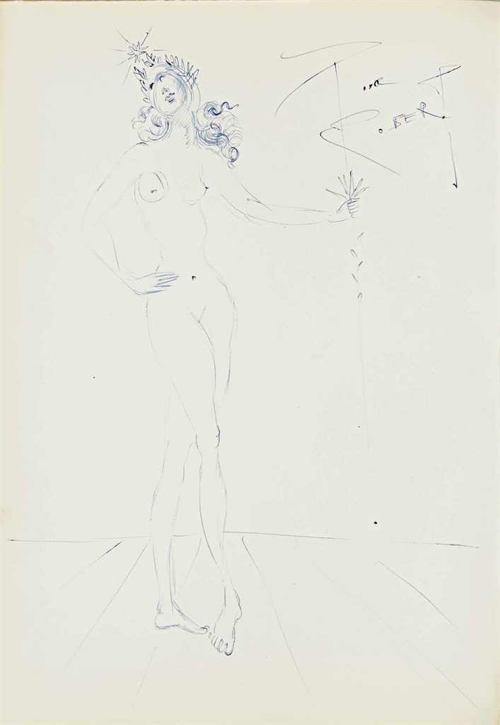 Salvador Dali-Nu feminin laure-1957