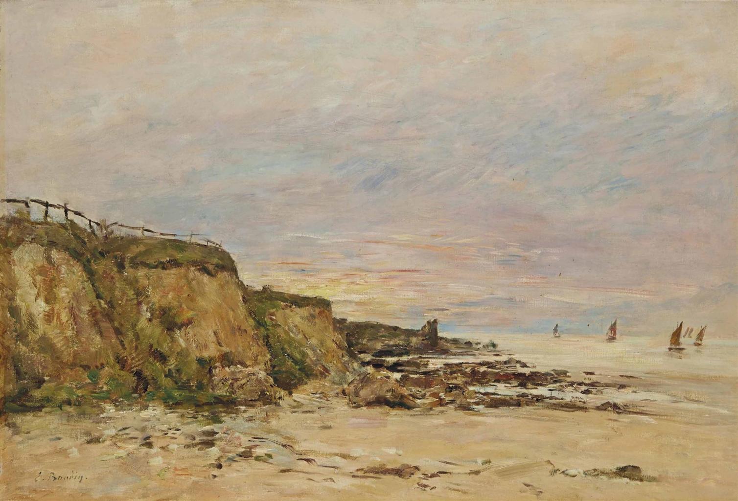 Eugene Louis Boudin-Villerville, le rivage-1894