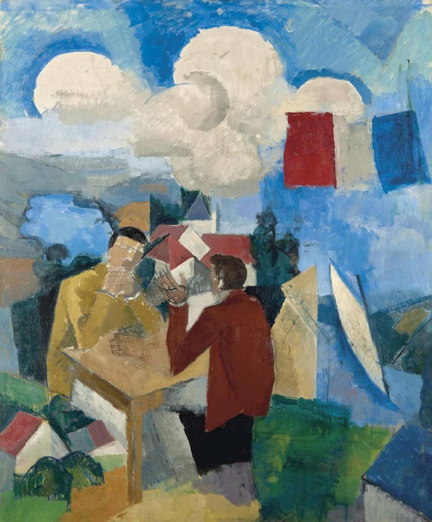 Roger de La Fresnaye-La conquete de l'air, avec deux personnages-1913