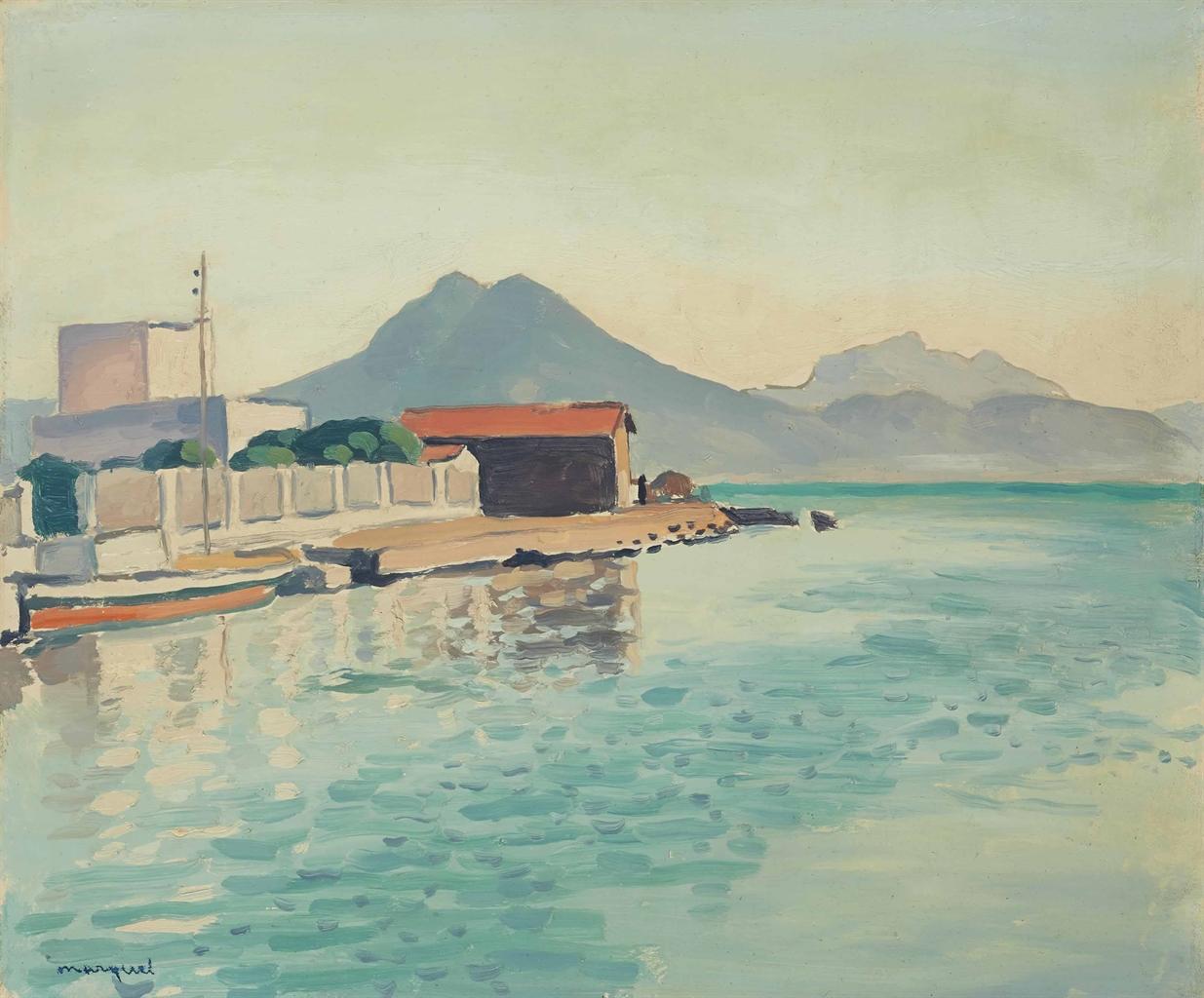 Albert Marquet-Le quai, Tunis (la Goulette)-1926