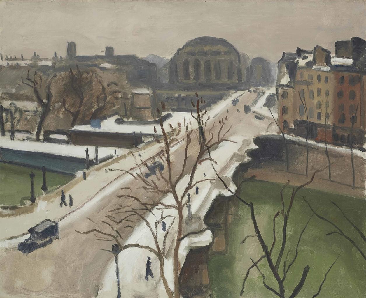 Albert Marquet-Le pont Neuf sous la neige, Paris-1940