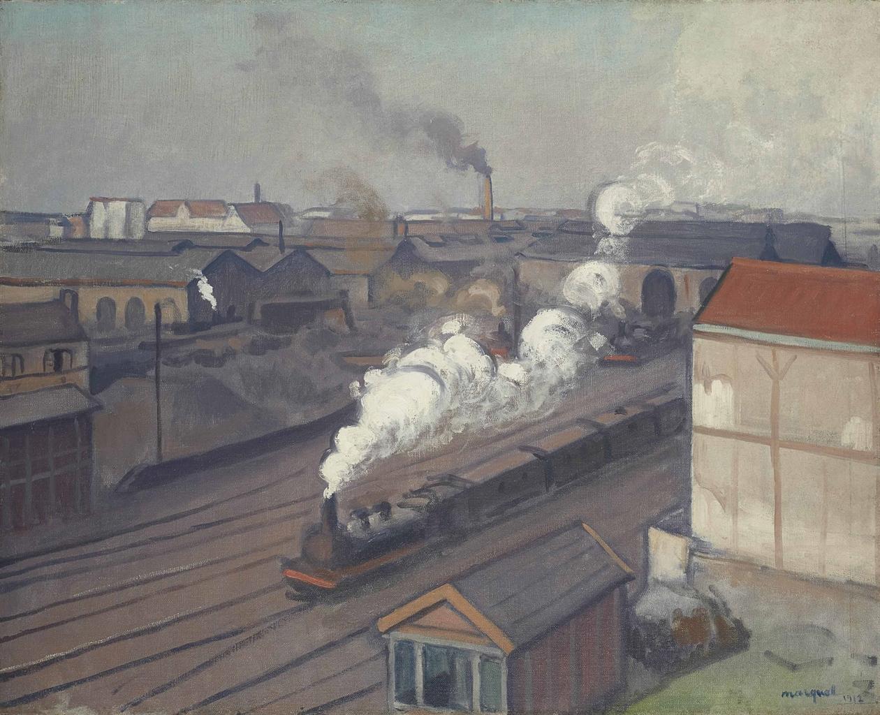 Albert Marquet-La gare Montparnasse-1912