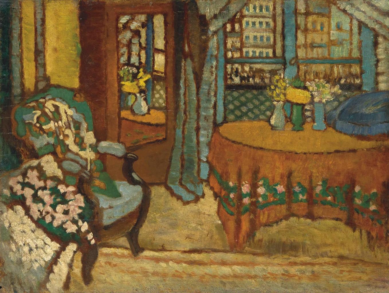 Jozsef Rippl-Ronai-Interieur d'un salon parisien (apres-midi)-1910