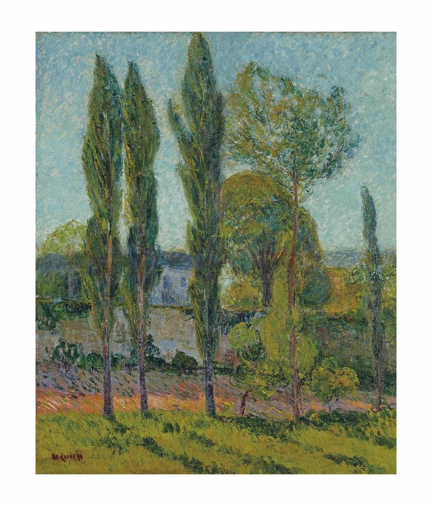 Gustave Loiseau-Maison vue a travers les peupliers, Nesles la Vallee-1895