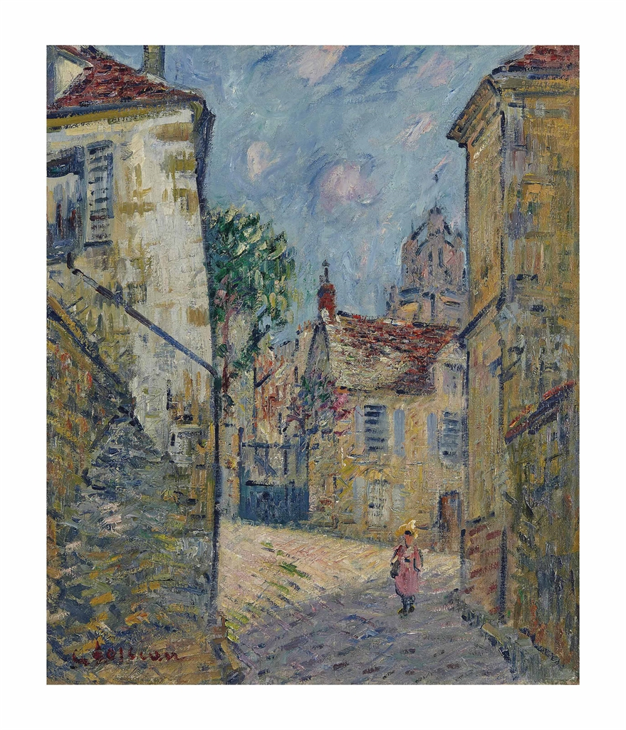 Gustave Loiseau-Rue a Pontoise-1922