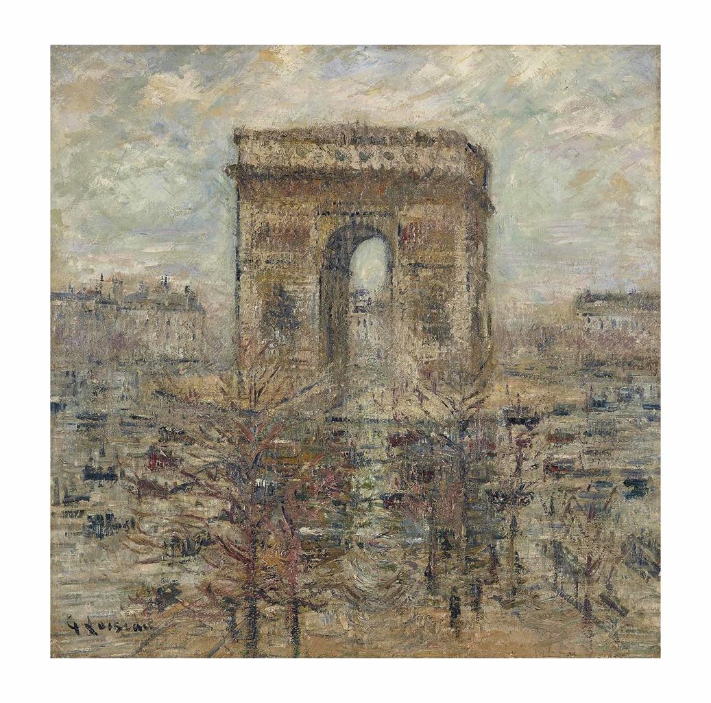 Gustave Loiseau-L'Arc de Triomphe, Place de l'Etoile-1929