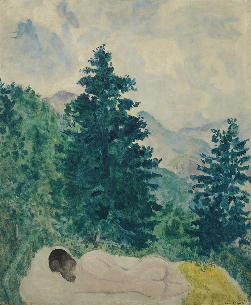 Marc Chagall-Le nu a Peyra-Cava-1931