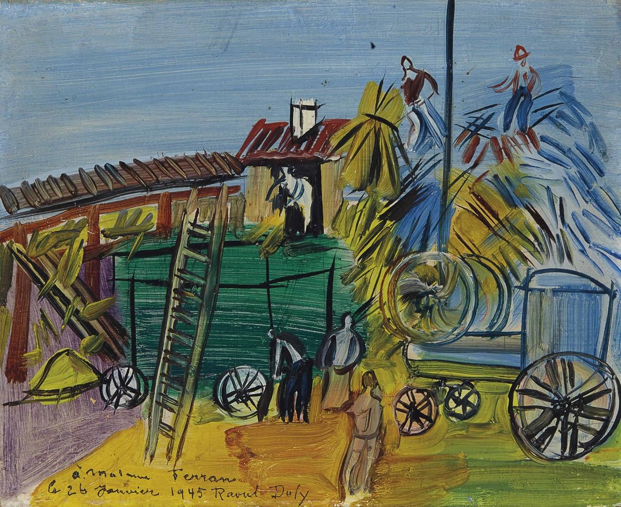 Raoul Dufy-Le depiquage-1945