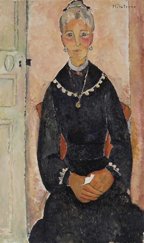Jeanne Hebuterne-La vieille dame au collier ou Portrait d'Eudoxie Hebuterne-1919