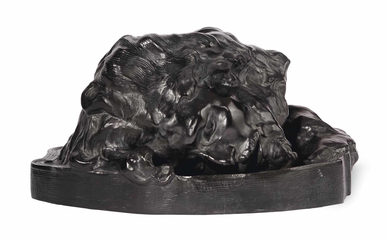 Auguste Rodin-Saint Jean-Baptiste (Tete), modele de profil, version avec plateau epais-2003