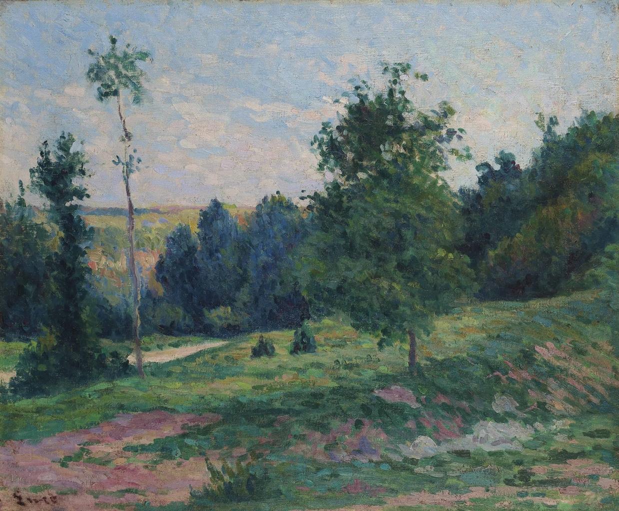 Maximilien Luce-Paysage, les environs de Moulineux-1905