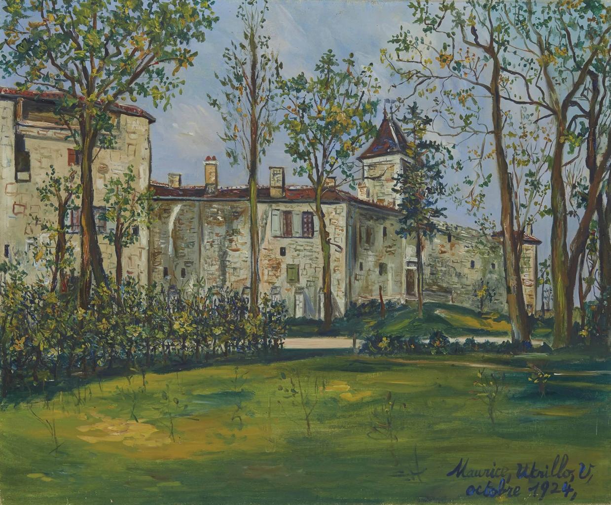 Maurice Utrillo-Le chateau de Saint-Bernard-1924