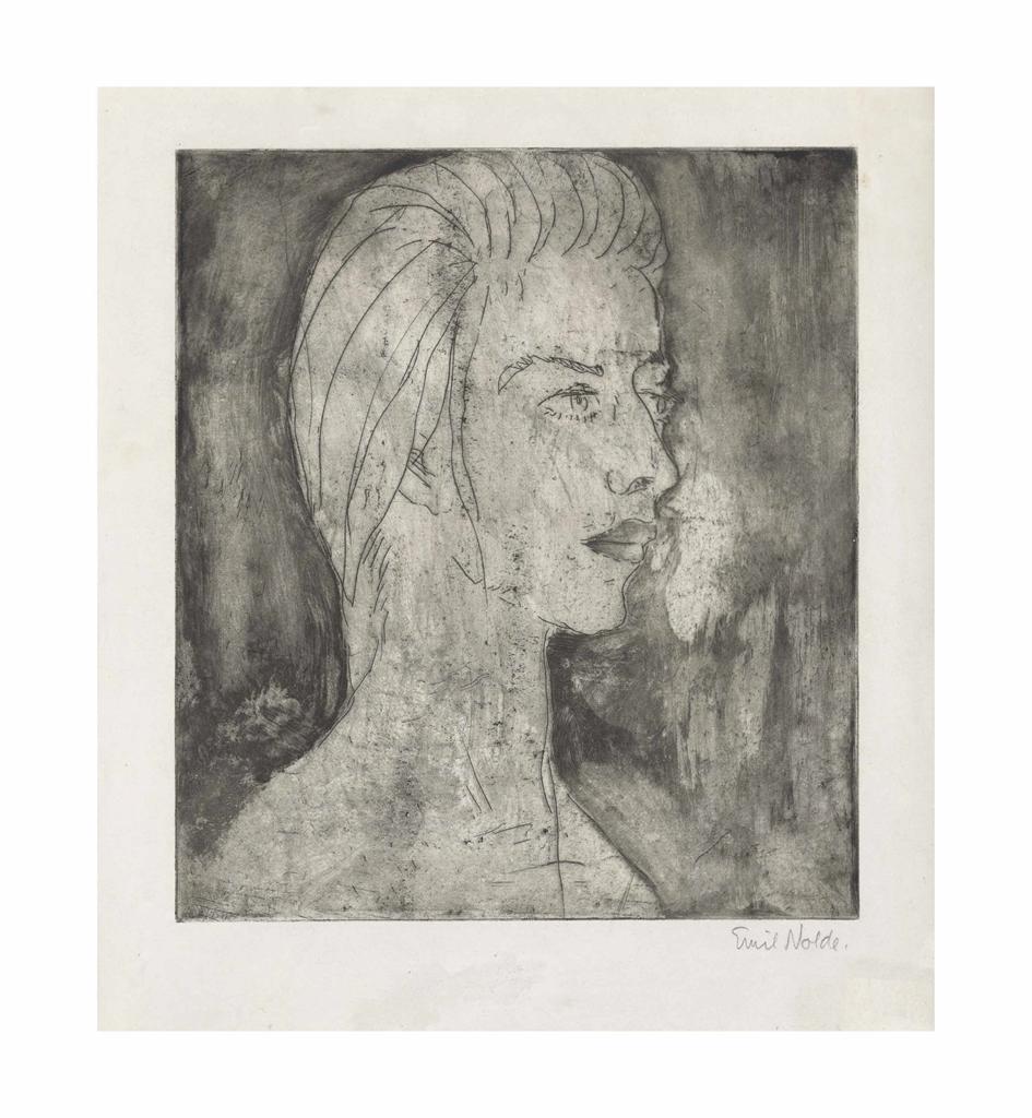 Emil Nolde-Grete-1922