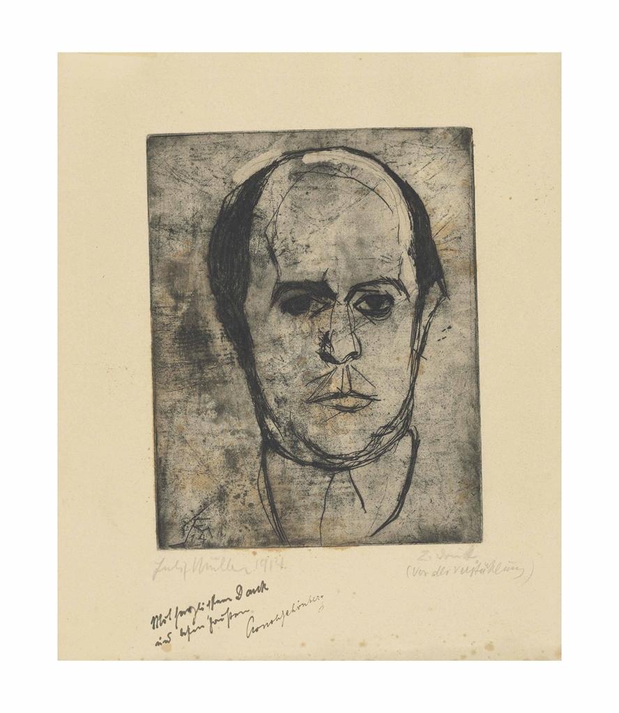 Conrad Felixmuller-Bildnis Arnold Schonberg-1914