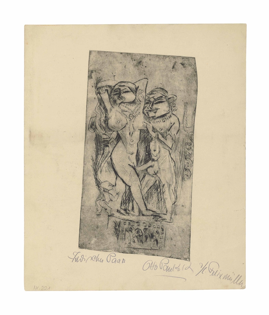Otto Pankok-Indisches Paar-1923