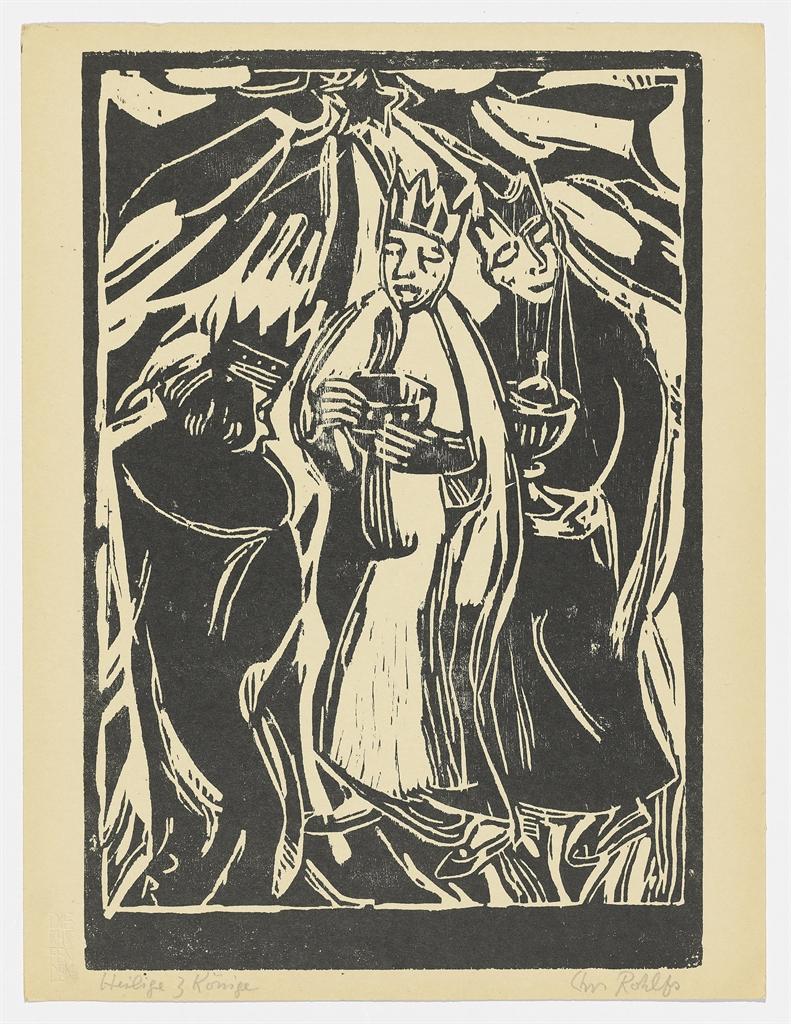 Christian Rohlfs-Die Heiligen Drei Konige; Strasse in Soest-1911