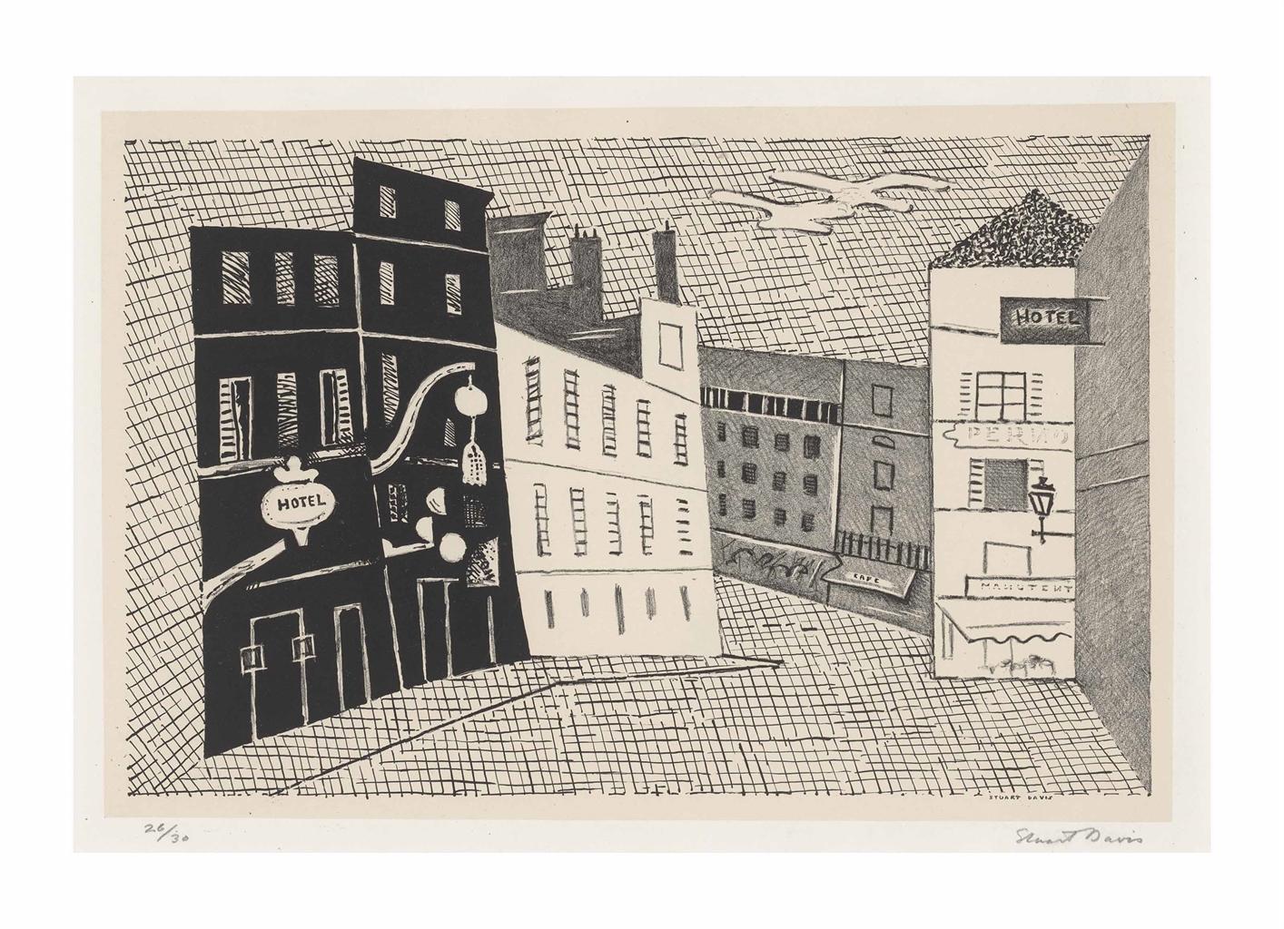 Stuart Davis-Rue de l'Echaude-1929