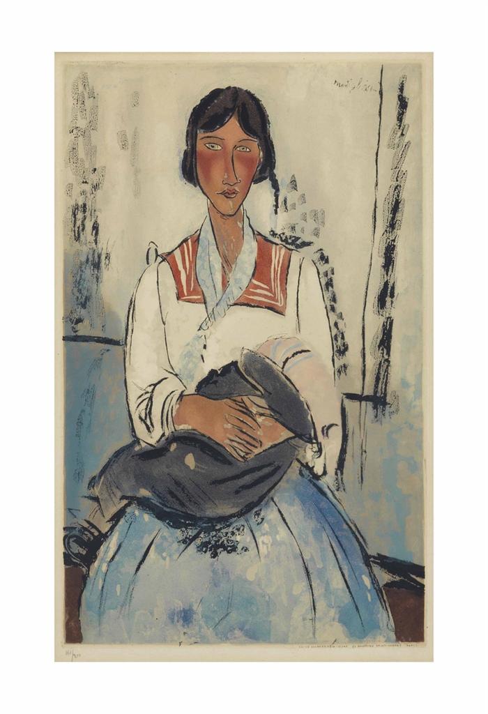 Amedeo Modigliani-After Amedeo Modigliani - L'Italienne-1927