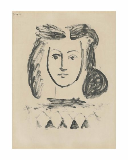 Pablo Picasso-Buste de Jeune Fille-1947