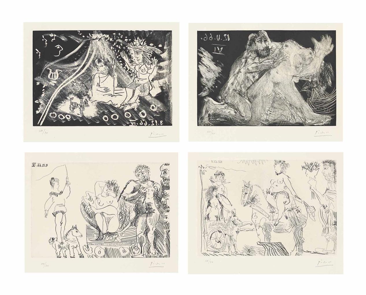 Pablo Picasso-Le Cocu Magnifique-1968