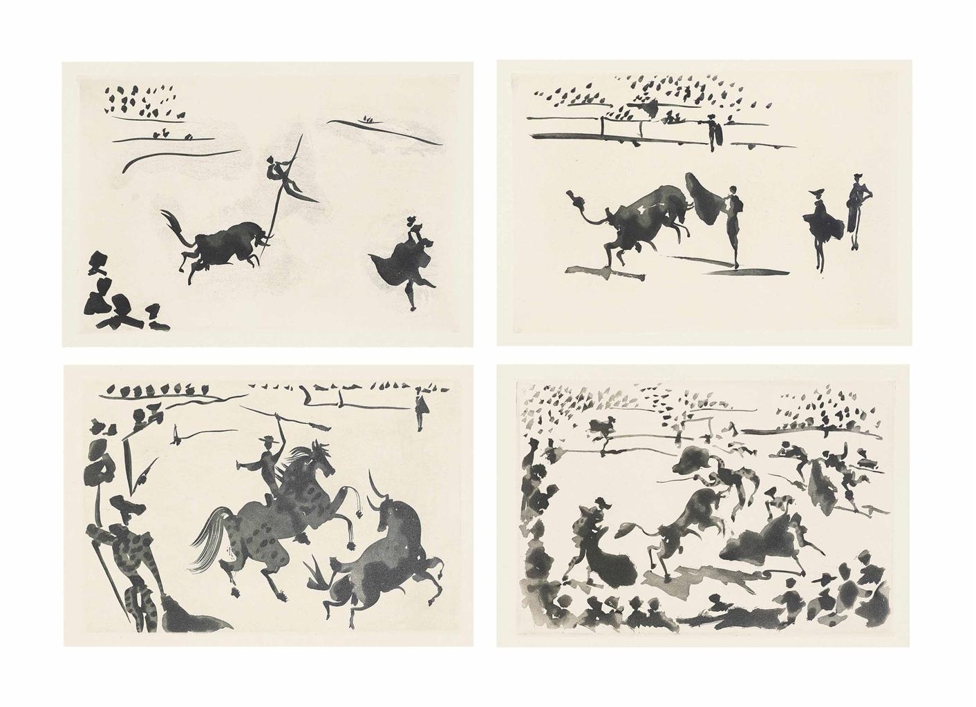 Pablo Picasso-La Tauromaquia-1959