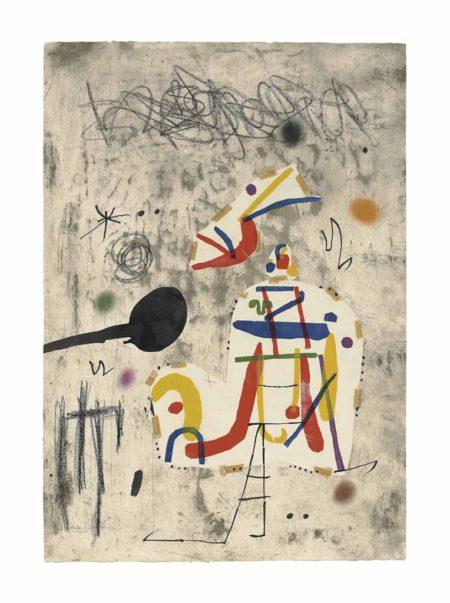 Joan Miro-Maquette for: Persontage I Estels IV-1979