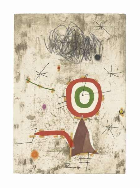 Joan Miro-Maquette for: Persontage I Estels VII-1979