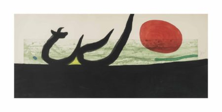 Joan Miro-La Greve Noire-1973