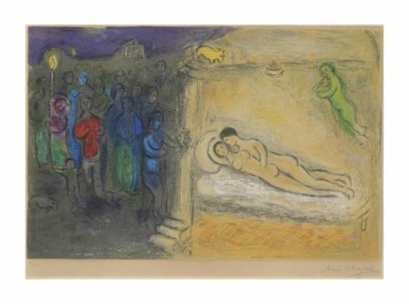 Marc Chagall-Hymenee, from: Daphnis and Chloe-1961
