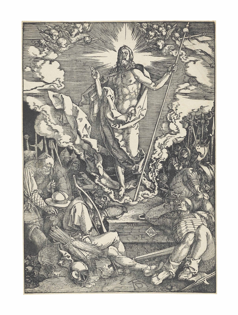 Albrecht Durer-The Resurrection, from: The Large Passion-1510