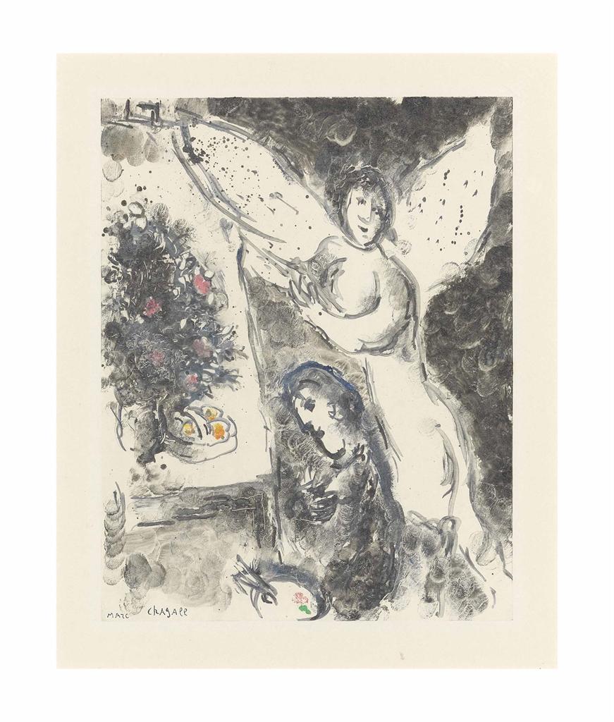 Marc Chagall-L'Apparition-1974