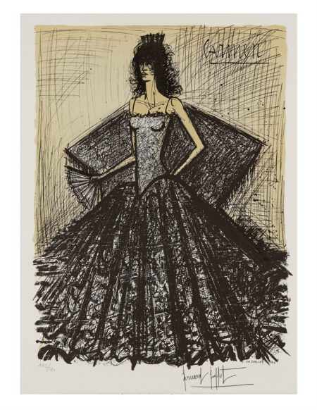Bernard Buffet-After Bernard Buffet - Carmen. Decors and Costumes-1981