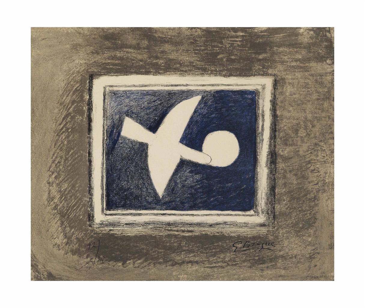 Georges Braque-Astre et Oiseau II-1959