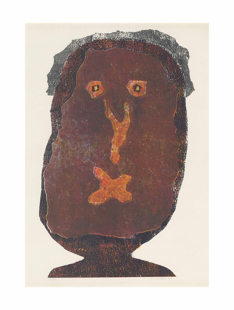 Jean Dubuffet-L'enfle-chique III-1963